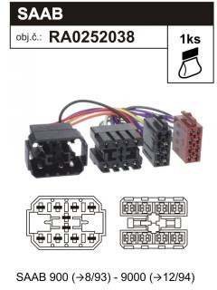 ISO adaptér SAAB