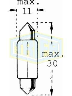 24V C10W SV8,5-8  31mm TRIFA