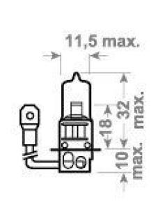 12V H3 55W PK22s +30%  Philips Premium