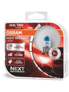 12V H3 55W PK22s +150% OSRAM Night Breaker Laser, sada 2ks