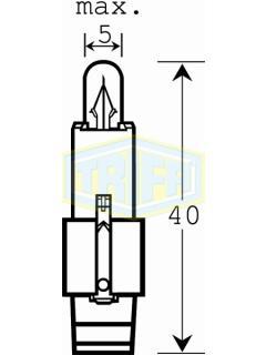 12V 1,2W BG8,5-D/ černá TRIFA