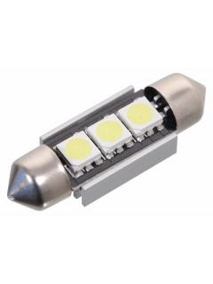 12V LED SUFIT-36mm Bílá, 3LED/3SMD s rezistorem
