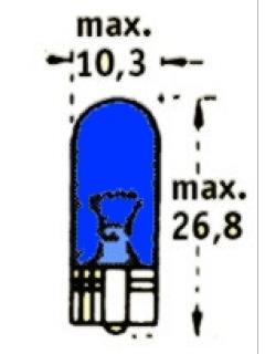 12V W3W 2,1x9,5d Tmavě modrá TRIFA