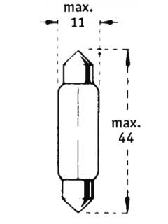 12V C10W SV8,5-8  44mm TRIFA
