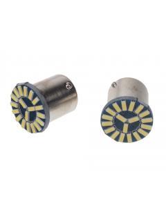 LED BA15s bílá, 12V, 19LED/4014SMD