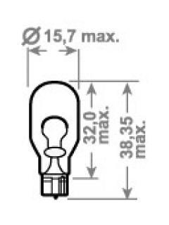 12V W16W  ( 12,8V 18W)  W2,1x9,5d  TRIFA