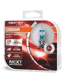 12V HB4 51W P22d ( 9006 ) +150% OSRAM Night Breaker Laser, sada 2ks