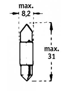 24V C3W SV7-8  31mm TRIFA