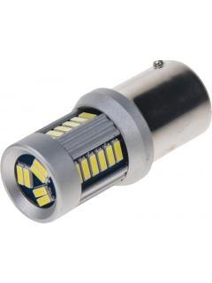 LED BA15s bílá, 12-24V, 30LED/4014SMD, 1ks