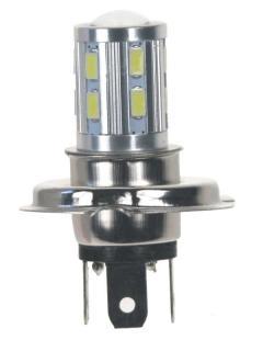 LED H4 bílá, 10-30V, 12SMD 5630 + 3W