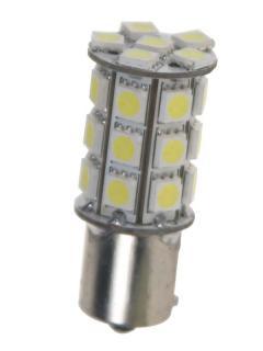 LED BAY15d (dvouvlákno) bílá, 12V, 27LED/3SMD