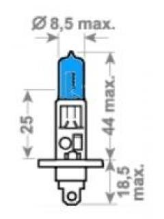 12V H1 55W P14,5s  X-Blue TRIFA