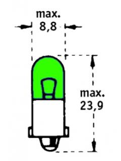 24V T4W BA9s Zelená TRIFA