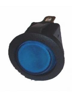 Vypínač kolébkový kulatý M podsvícený