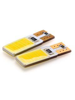 COB LED T10 bílá, 12V, wedge, 1ks