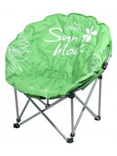 Židle kempingová skládací FLOWERS zelená