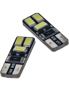 LED T10 bílá, 12V, 6LED/5730SMD, 1ks