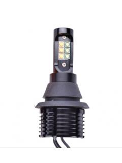 LED T20 7440 bílá + oranžová, 12/24V, 12LED (2ks v balení)