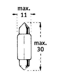12V C10W SV8,5-8  31mm TRIFA