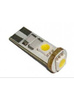 LED T10 bílá, 12V, 3LED/3SMD, 1ks