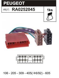 ISO adaptér CITROEN, PEUGEOT