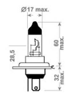 12V H4 60/55W P43 CDL (LONG-LIFE)  TRIFA