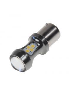 LED BA15s bílá, 12-24V, 16LED/3030SMD