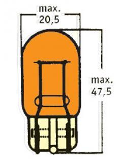 12V WY21W 3x16d Oranžová celosklo TRIFA