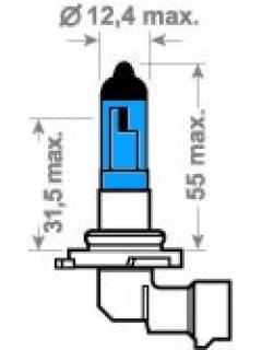 12V HB4 X-Blue 51W P22d ( 9006 ) TRIFA