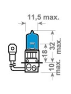 12V H3 55W PK22s X-Blue TRIFA