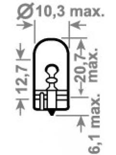 12V W6W xenon 2,1x9,5d TRIFA