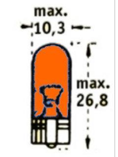 12V WY5W  W2,1x9,5d Oranžová TRIFA