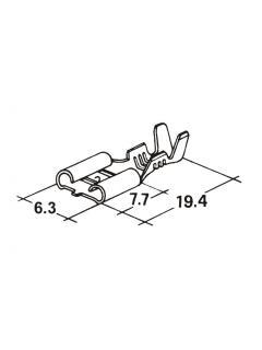 Zásuvka plochá 6,3mm 1,0-2,5mm jazýček - dutinka -
