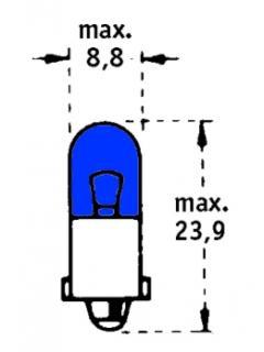 24V T2W BA9s Tmavě modrá TRIFA