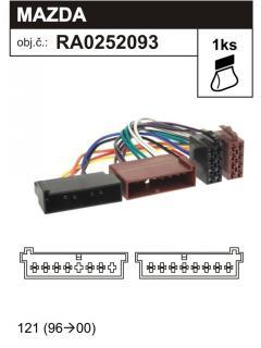 ISO adaptér FORD, MAZDA