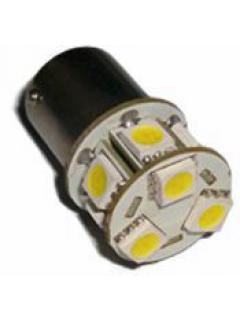 LED BAU15s bílá, 12V, 9LED/3SMD