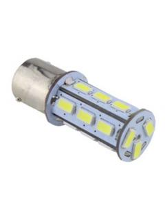 LED BA15s bílá, 12-24V, 18LED/5730SMD, 1ks