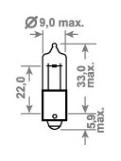 12V H6W BAX9s Halogen TRIFA