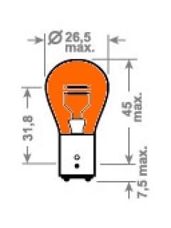 12V PY21W BAU15s Oranžová TRIFA