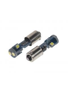 LED BAX9s bílá, 12V, 6LED/3030SMD