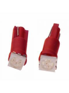 LED T5 červená, 12V, 1LED/3SMD, 1ks