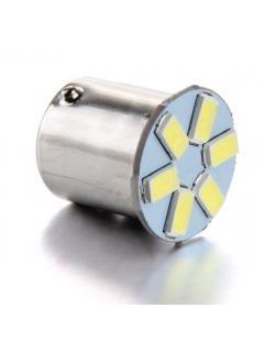 LED BA15s bílá, 12V, 6LED/5630SMD, 1ks