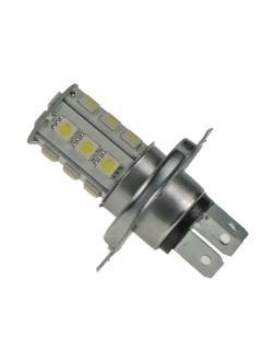 LED H4 bílá, 12V, 18LED/3SMD