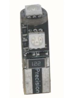 LED T10 červená, 12V, 3LED/3SMD, 1ks