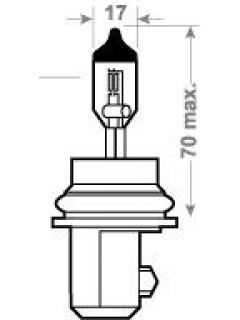 12V HB1 65/54W P29t ( 9004 ) TRIFA