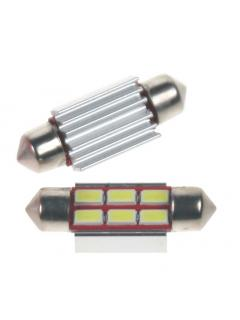 LED sufit (36mm) bílá, 24V, 6LED/5730SMD s chladičem, 1ks