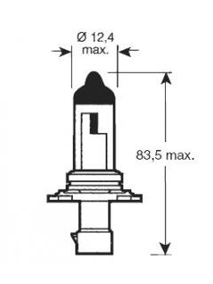 12V HB4A 51W P22d  ( 9006 )  Rovná patice TRIFA