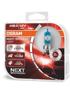 12V HB3 60W P20d ( 9005 ) +150% OSRAM Night Breaker Laser, sada 2ks