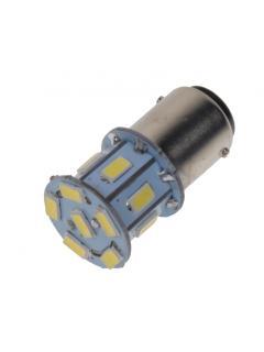 LED BAY15d (dvouvlákno) bílá, 12V, 13LED/3SMD