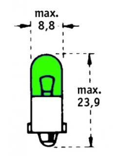24V T2W BA9s Zelená TRIFA